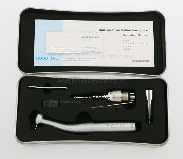 YUSENDENT® CX207-GK-PQ Fiber Optic Handpiece KAVO Compatible (With Coupler x1+ Without Coupler x2)